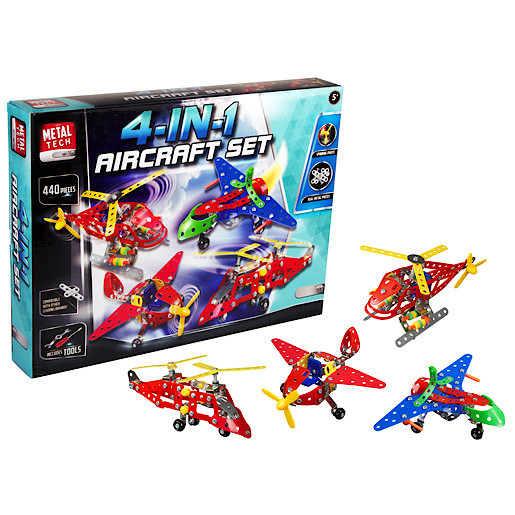Image of Metal Tech 4 in 1 Aircraft Building Set