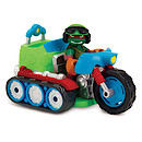 Teenage Mutant Ninja Turtles Half-Shell Heroes Vehicle and Figure - Tread Cycle with Raphael