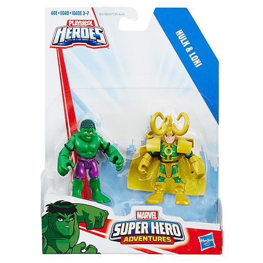 Playskool Heroes Marvel Super Hero Adventures Hulk and Loki