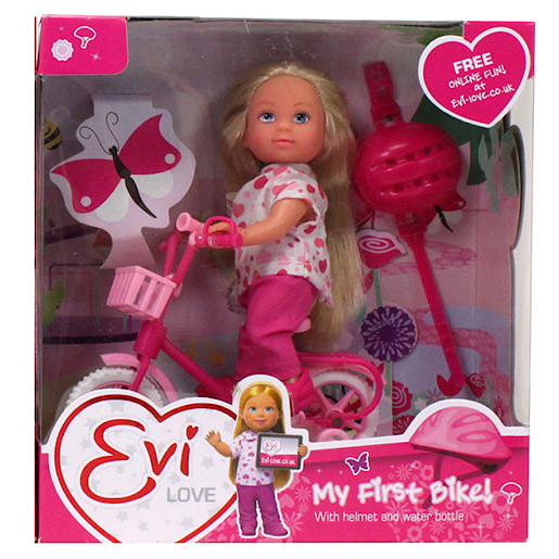Evi Love Doll With First Bike (Styles Vary)