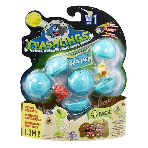 Crashlings Series 1 Sea Life 4 Figures Pack