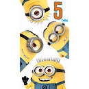 Despicable Me 5th Birthday Card