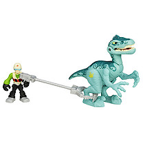 Playskool Heroes Jurassic World Figure with Catcher - Velociraptor
