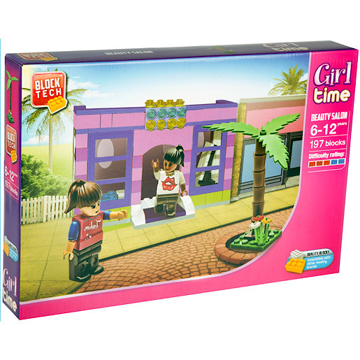 Image of Block Tech Large Girl Time Beauty Salon Building Set