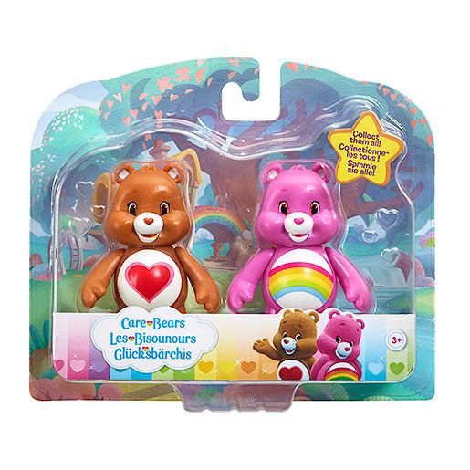 Image of Care Bears Figure Twin Pack - Cheer Bear & Tenderheart Bear