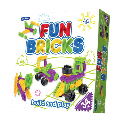 Fun Bricks Build and Play - 34pc