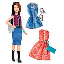 Barbie Fashionistas Pretty in Paisley Doll with Fashion Outfits