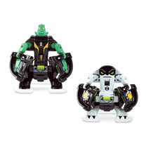 Ben 10 Omni Launch Battle Figures Refill - Diamondhead and Cannonbolt