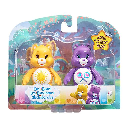 Image of Care Bears Figure Twin Pack - Funshine Bear & Share Bear
