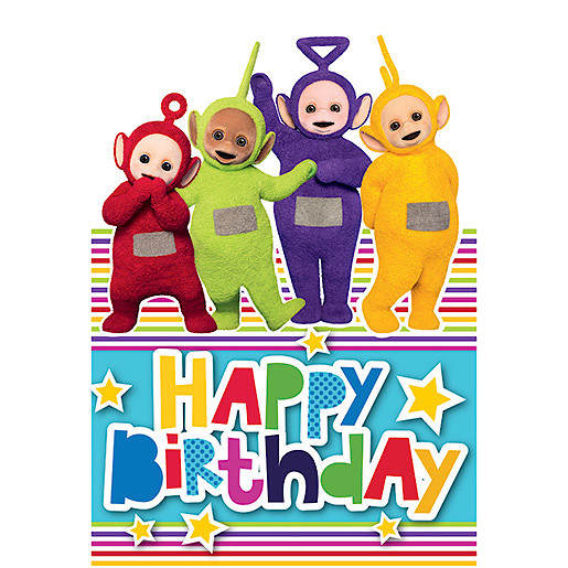 Teletubbies Happy Birthday Card Cards Wrapping Paper And Cards