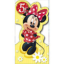 Disney Minnie Mouse Birthday Card - 5 Years