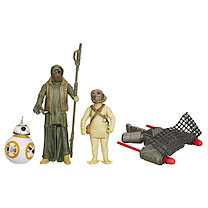Star Wars The Force Awakens 3 Figure Pack - BB-8, Unkar's Thug & Jakku Scavenger
