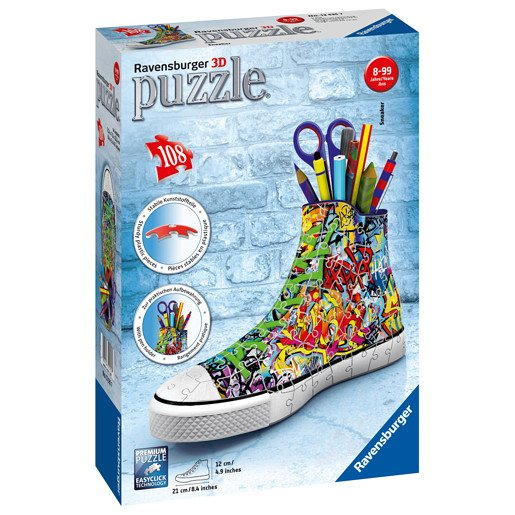 Ravensburger Graffiti Sneakers 3D Jigsaw Puzzle - 108pc