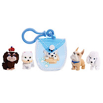 Puppy In My Pocket 5 Puppy Pack with Blue Clip On Pouch
