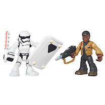 Star Wars Galactic Heroes Figure Two Pack - Finn (Jakku) & First Order Stormtrooper