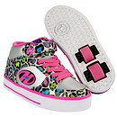 Heelys Silver and Pink Multiprint X2 Cruz Skate Shoes - Size 2