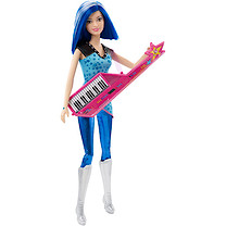 Barbie Rock 'N' Royals Co-Star Zia Doll with Keyboard