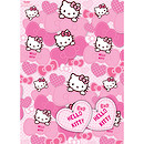 Hello Kitty 2 Sheets of Wrapping Paper and 2 Gift Tags (Styles Vary)