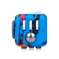 Fidget Cube Original Anti-Stress Toy - Blue Pattern (Styles Vary)