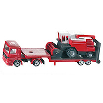 Die-Cast Low Loader With Combine Harvester
