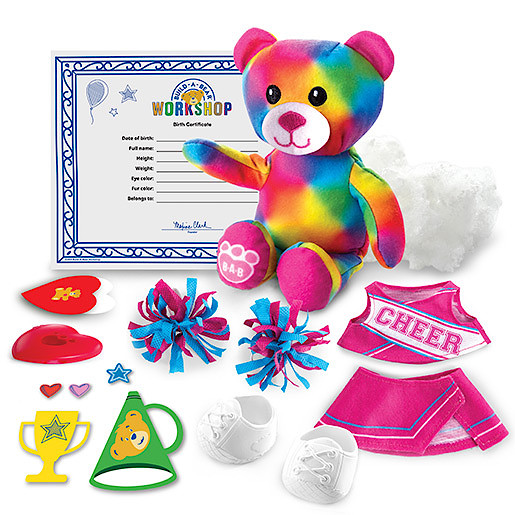 Image of Build-A-Bear Workshop Skin with Furry Fashions - Cheer Bear