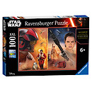 Ravensburger Star Wars The Force Awakens Poe Dameron and Rey 100 Pieces Puzzle