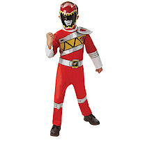 Power Rangers Dino Charge Red Ranger Muscle Costume (5-6 Years)