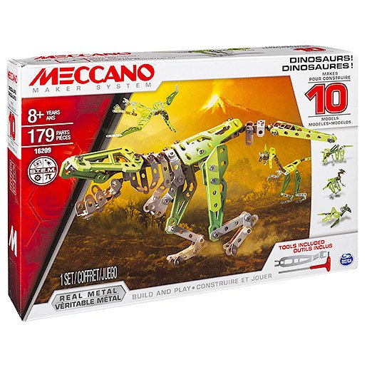 Meccano Dinosaurs 10-in-1 Model Maker Set