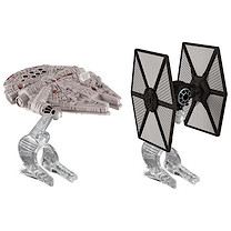 Hot Wheels Star Wars Die Cast Vehicle 2 Pack - TIE Fighter Vs. Millennium Falcon
