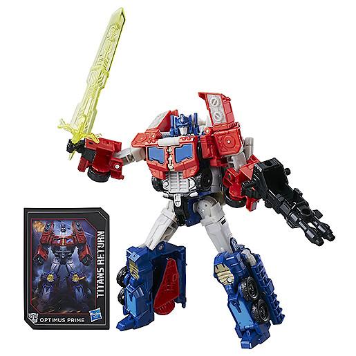 Transformers Generations Titans Return Voyager Class Figure  Diac & Optimus Prime