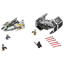 LEGO Star Wars Vader's TIE Advanced vs. A-Wing Starfighter - 75150