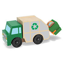Melissa & Doug Wooden Rubbish Truck