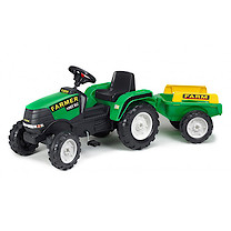 Falk Power Max Ride-on Tractor with Trailer