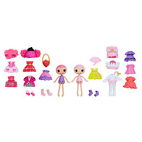 Lalaloopsy Minis Style 'n' Swap Doll Two Pack - Confetti Carnivale & Jewel Sparkles