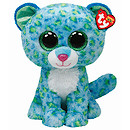 Ty Beanie Boos Buddy - Leona the Blue Leopard Soft Toy
