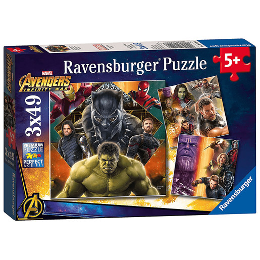 Ravensburger Jigsaw Puzzle - Marvel Avengers Infinity War 3 x 49 Pieces