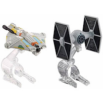 Hot Wheels Star Wars Die Cast Vehicle 2 Pack - TIE Fighter Vs. Ghost