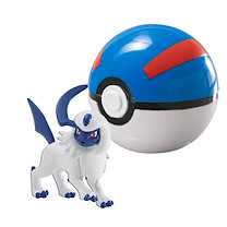Pokemon XY Clip 'n' Carry Poke Ball - Absol & Great Ball