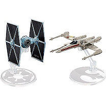 Hot Wheels Star Wars Die Cast Vehicle 2 Pack - TIE Fighter Vs. X-Wing Fighter
