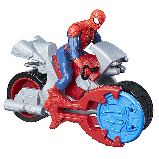Marvel Spider-Man Blast N Go Racers - Spider-Man with Cycle