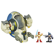 Playskool Heroes Star Wars Jedi Force - Jango Fett's Slave 1 with Obi-Wan Kenobi