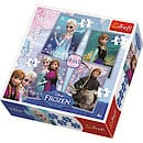 Disney Frozen 4 In 1 Jigsaw Puzzle Set - 35/48/54/70 Pieces
