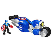 Playskool Heroes Marvel Super Hero Adventures Captain America Bike with Figure