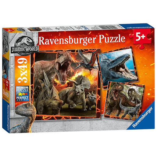 Ravensburger Jigsaw Puzzle - Jurasic World 3 x 49 Pieces