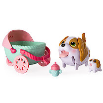 Chubby Puppies & Friends Puppy Stroller with King Charles Spaniel