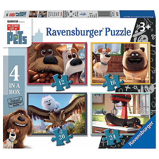 Ravensburger The Secret Life of Pets 4 in a Box Puzzles