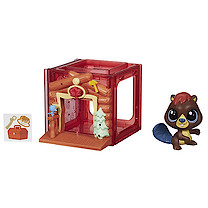 Littlest Pet Shop Mini Style Set with Beaver Figure