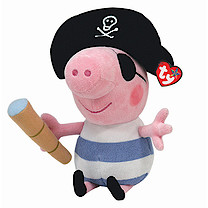 Ty Peppa Pig Buddy - 23cm George Pirate Soft Toy