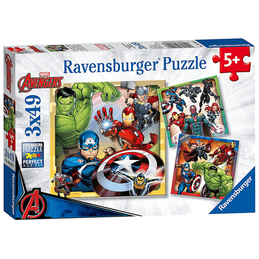 Ravensburger Jigsaw Puzzle - Marvel Avengers Assemble 3 x 49 Pieces