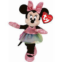 Ty Disney Laughing Minnie Mouse Beanie Boo Soft Toy with Ballerina Dress
